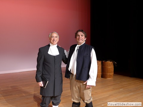 Jim Hummel as Alex Clunie with John Newton